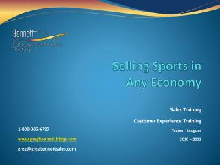 Selling Sports in  Any Economy