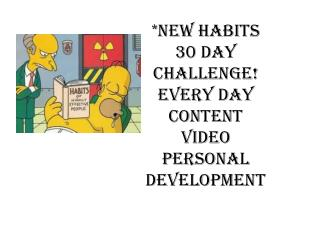 *New habits 30 day  challenge! Every day content video personal  development