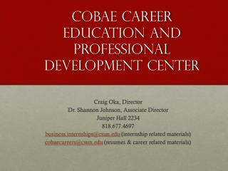 COBAE Career Education and Professional Development Center
