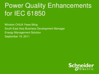 Power Quality Enhancements for IEC 61850