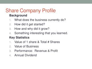 Share Company Profile