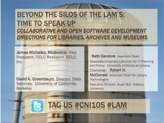 Beyond the Silos of the  LAM's :  Time to Speak Up Collaborative and Open Software Development Directions for Libraries