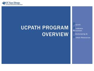 UCPath Program Overview
