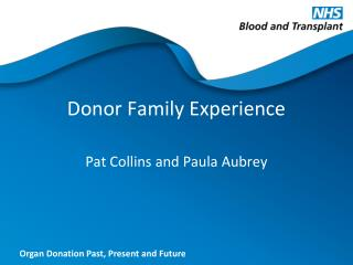 Donor Family Experience