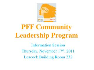 PFF  Community Leadership Program