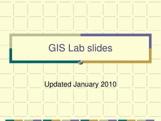 GIS Lab slides
