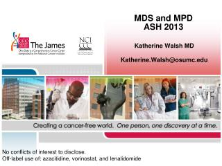 MDS and MPD ASH 2013