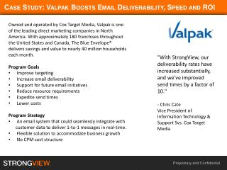 Case Study: Valpak Boosts  Email Deliverability , Speed and ROI