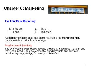 Chapter 8:  Marketing