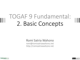 TOGAF 9  Fundamental: 2. Basic Concepts