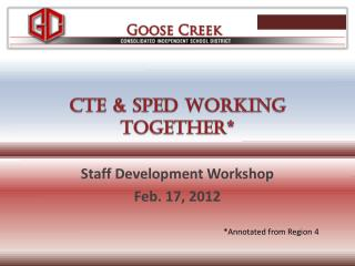 CTE & SPED Working together*