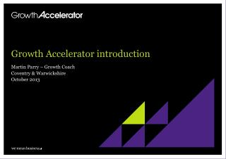 Growth Accelerator introduction