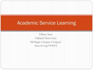 Academic Service Learning