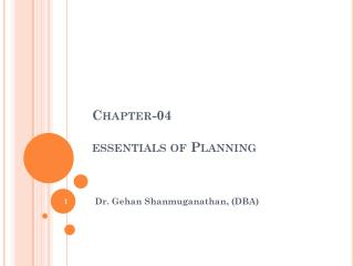 Chapter-04 essentials of Planning