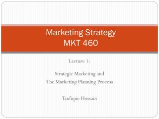 Marketing  Strategy MKT 460