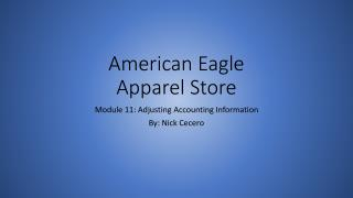 American Eagle Apparel Store