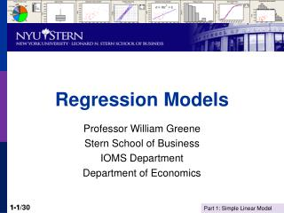 Regression Models