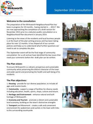 September 2013 consultation