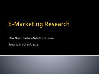 E-Marketing Research