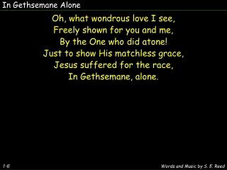 have you had a gethsemane