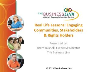 Real Life Lessons: Engaging Communities, Stakeholders & Rights Holders