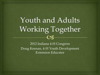 Youth and Adults Working Together