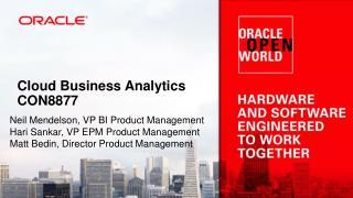 Cloud Business Analytics CON8877
