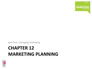 chapter  12 marketing planning