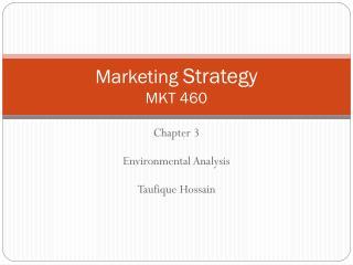 Marketing  Strategy MKT 460