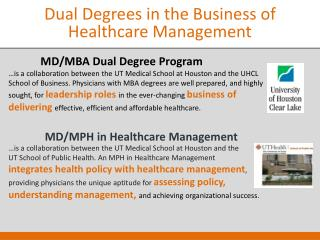 Dual Degrees in the Business of Healthcare Management
