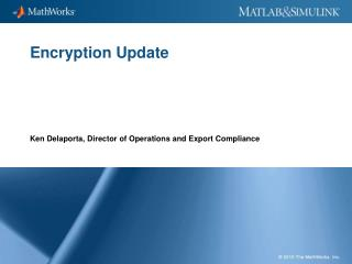 Encryption Update