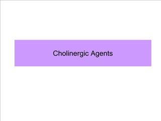 cholinergic agents