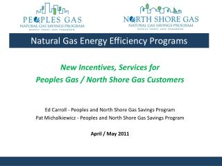 Natural Gas Energy Efficiency Programs