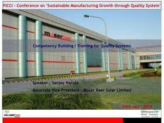 Competency Building / Training for Quality Systems