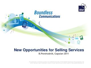 New Opportunities for Selling Services