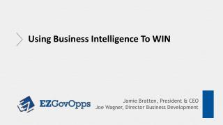 Jamie Bratten, President & CEO  Joe Wagner, Director Business Development