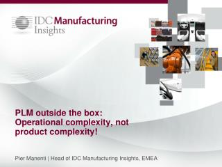 PLM outside the box: Operational complexity, not product complexity!