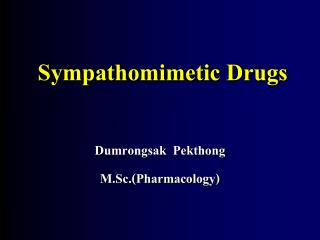 sympathomimetic drugs