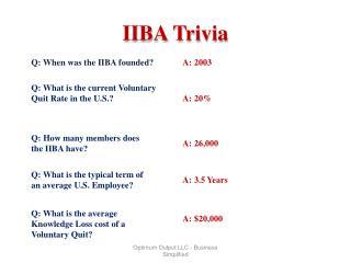 IIBA Trivia