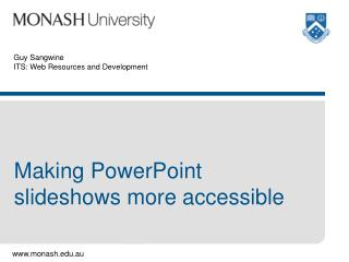 Accessible PowerPoint and slideshows