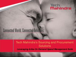 Tech Mahindra's Sourcing  and Procurement  Solutions
