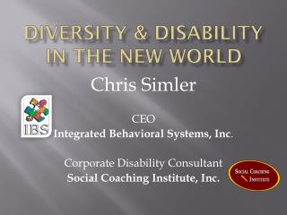 Diversity & Disability In the New World