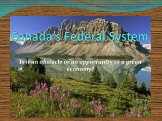 Canada's Federal System