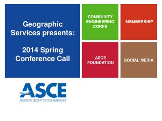 Geographic Services presents: 2014 Spring Conference Call