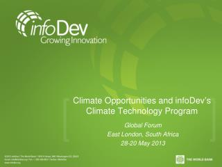 Climate Opportunities and infoDev�s Climate Technology Program