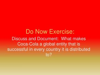 Do Now Exercise: