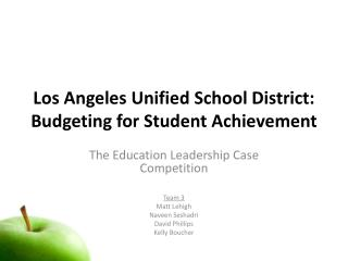 Los Angeles Unified School District: Budgeting for Student Achievement
