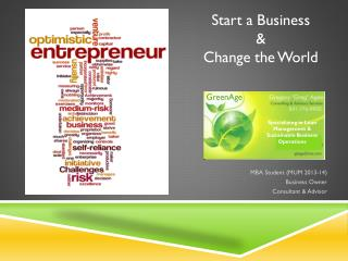 S tart a Business  &  Change the World