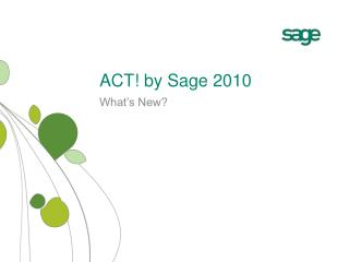 ACT! by Sage 2010