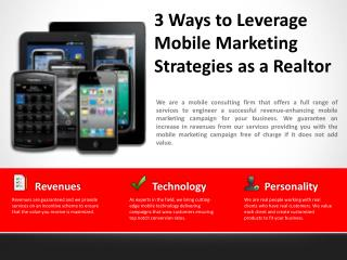 3 Ways to Leverage Mobile Marketing Strategies as a Realtor